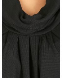 Izabel London | Black Knit Tunic Top With Cowl Neckline | Lyst