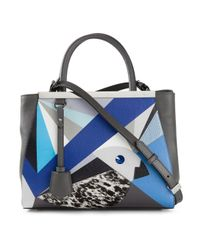 Fendi | Blue Medium '2Jours' Tote | Lyst