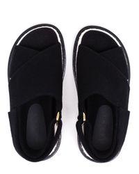 Marni - Black 'fussbett' Sandals - Lyst