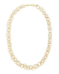 R.j. Graziano - Metallic Golden Multi-ring Necklace - Lyst