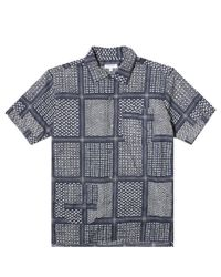 Engineered Garments - Blue Camp Shirt for Men - Lyst
