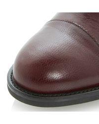 Dune - Purple Lockton Slip-On Block Heel Leather Shoes - Lyst