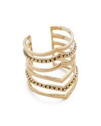 Sunahara | Metallic Statement V Ring - Gold | Lyst
