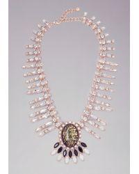 Bebe - Multicolor Moonstone Pendant Necklace - Lyst