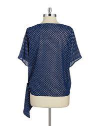 MICHAEL Michael Kors | Blue Tie-waist Top | Lyst