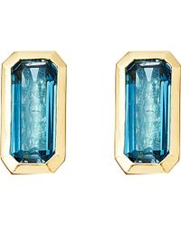 Astley Clarke | 18ct Gold Vermeil Blue Topaz Earrings | Lyst
