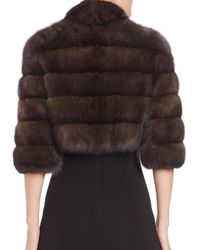 Saks Fifth Avenue - Brown Sable Fur Bolero - Lyst