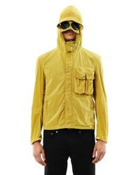 C P Company - Green Lightweight Hooded Goggle Jacket for Men - Lyst