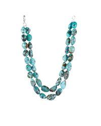 Ralph Lauren | Blue Turquoise Doublerow Necklace | Lyst