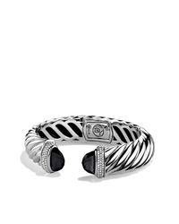 David Yurman - Waverly Bracelet With Black Onyx & Black Diamonds - Lyst