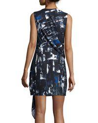 McQ - Multicolor Short-sleeve Printed Sheath Dress - Lyst