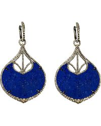 Annoushka | Blue Cloud Nine Nocturnal Rhodium-plated 18ct White-gold, Lapis And Diamond Earrings | Lyst