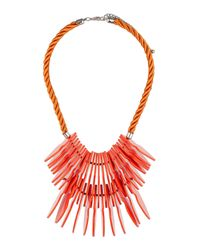 TOPSHOP | Orange Arrow Rope Necklace | Lyst