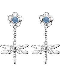 Theo Fennell - Metallic Sterling Silver And Blue Jade Earrings - For Women - Lyst