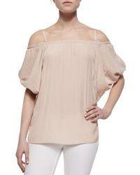 Ramy Brook - Pink Jolie Off-the-shoulder Top - Lyst