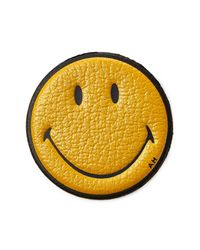 Anya Hindmarch | Yellow Smiley Leather Sticker | Lyst