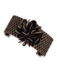 Tuleste | Metallic Flower Mesh Chain Bracelet | Lyst