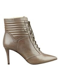 Nine West - Natural Pithon Pointy Toe Booties - Lyst
