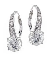 CZ by Kenneth Jay Lane | Metallic 3.5cttw Round Cz Ears | Lyst
