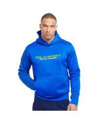 Ralph Lauren - Blue Tech Fleece Hoodie for Men - Lyst