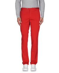 PT01 - Red Casual Pants for Men - Lyst