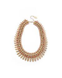 Adia Kibur   Metallic Crystal Statement Necklace   Lyst