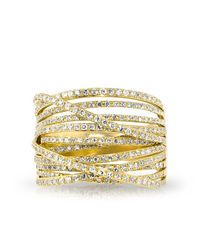Anne Sisteron - Metallic 14kt Yellow Gold Diamond Wire Ring - Lyst