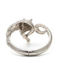Alexis Bittar - Metallic Moonlight Resting Panther Hinged Bracelet - Lyst