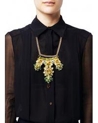 Matthew Williamson | Green Topaz Beaded Crescent Necklace | Lyst
