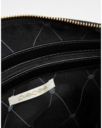 Pieces - Metallic Clutch With Studding - Lyst