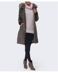 Creenstone | Green Eliza Faux Fur Parka | Lyst