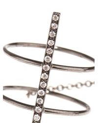 Diane Kordas - Metallic Diamond & Black-Gold Bar Ring - Lyst