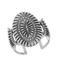 Lucky Brand | Metallic Silvertone Squash Blossom Cuff | Lyst