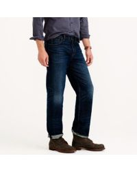 J.Crew | Blue Relaxed Jean In Dark Worn Wash for Men | Lyst