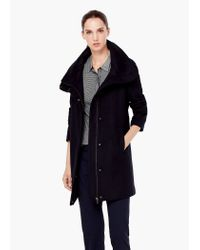Mango - Blue Cotton Cashmere-blend Coat - Lyst