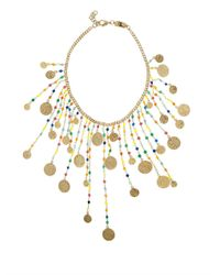 Rosantica By Michela Panero | Metallic Appeso Coin And Agate Necklace | Lyst