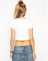 ASOS - White The Ultimate Crop Top - Lyst