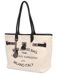 V73 - Natural Small Monte Napoleone Cotton Felt Tote - Lyst