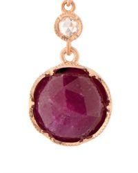Irene Neuwirth - Red Diamond, Ruby & Rose-Gold Earrings - Lyst