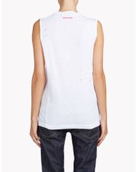 DSquared² | White Long Cool Twisted T-shirt | Lyst