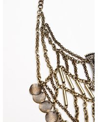 Free People | Metallic Katie Coin Statement Necklace | Lyst