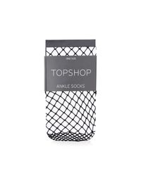 TOPSHOP | Black Fishnet Ankle Socks | Lyst