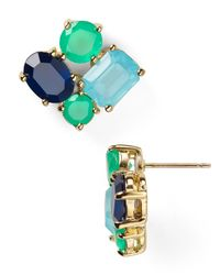kate spade new york | Green Cluster Stud Earrings | Lyst