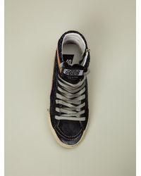 Golden Goose Deluxe Brand - Blue Glitter Hi-Top Sneakers - Lyst