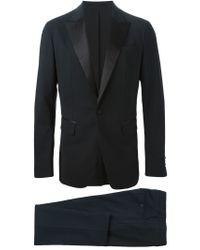DSquared² - Black Satin Detail Two-piece Suit for Men - Lyst
