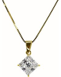Carat* | Metallic Princess 1ct Pendant Necklace | Lyst