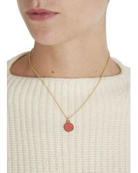 Marc By Marc Jacobs | Metallic Gold Tone Enamel Disc Necklace | Lyst