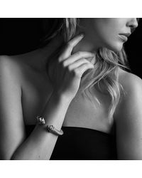David Yurman | Metallic Renaissance Bracelet With Diamonds, 10mm | Lyst