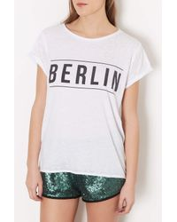 TOPSHOP - White Berlin Burnout Tee - Lyst