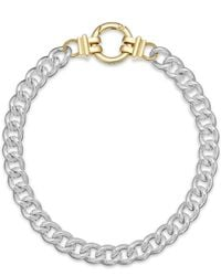 Lauren by Ralph Lauren | Metallic Two-Tone Curb Chain Necklace | Lyst
